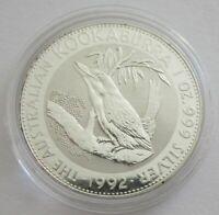 Australien 1 Dollar 1992 Kookaburra 1 Oz Silber