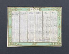 Chromo calendrier 1848 Kalendar Calender calendario