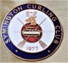 SYMINGTON CURLING CLUB SCOTLAND Pin