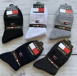 Tommy Hilfiger Logo 5 Pairs Of Unisex, Cotton Socks- See Description For Size