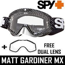 Spy Optics Tucker HIBBERT WHIP Gafas de motocross + Nieve Conducto Doble Blanco
