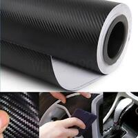 Universal 3D Texture CARBON Fiber Wrap Vinyl Decal Car Sticker Sheet 30x127cm