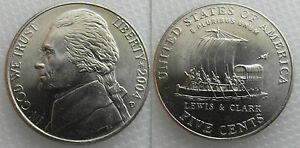 COLLECTABLE FIVE CENT NICKEL / KEELBOAT COIN - DATES 2004 - LEWIS & CLARK