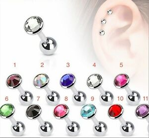 CZ Cartilage Barbell with Flat Top Disc - 4mm