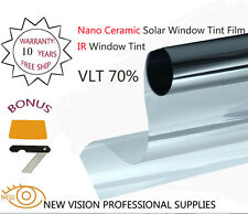 IR Window Tint Nano Ceramic Solar Film VLT70% 76cmX6m IR Reduction 90%