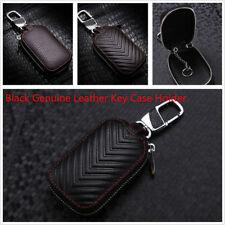 Fashion & Durable Black Genuine Leather Key Holder Men and Women Key Purse Case