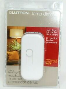 Lutron TT-300H-WH Electronics Plug-In Lamp Dimmer White 6' Cord New D-28