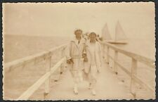 Germany 1925 Postcard Lubeck-Coln Fashionable Seaside Ladies  Message in German