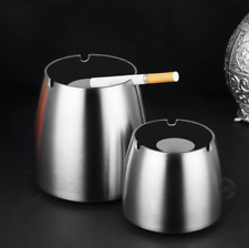 Portable Cigar Ashtray Stainless Steel Outdoor Windproof Car Home Backyard Tray