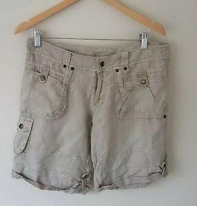 Atmosphere Womens Beige Cargo Shorts Size 10 <CX6573