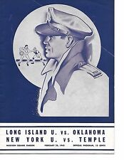 1945 MSG Doubleheader Program NYU- Temple & LIU-Oklahoma BEAUTY!!
