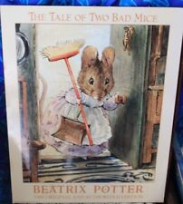 Beatrix Potter Authorised Print on board The Tale of Two Bad mice vintage 90's