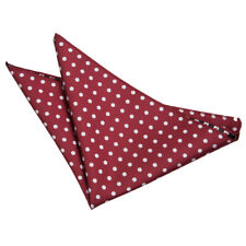DQT Woven Polka Dot Burgundy Casual Handkerchief Hanky Pocket Square