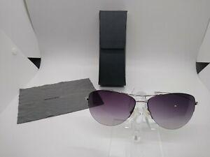 Oliver Peoples Strummer S Silver/Violet Aviator Sunglasses
