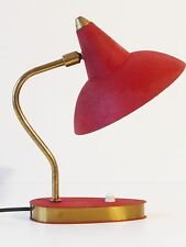 ADORABLE LAMPE REFLECTEUR ROUGE TYPIQUE 1950 VINTAGE 50's ROCKABILLY 50S LAMP