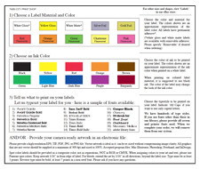 """Custom Product Labels 5,000 Printed .75"""" x 2.5""""  Rectangle Stickers 1-Color ink"""