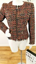 Ted Baker LORELLACheck Boucle Tweed Jacket size 4 UK 14 BNWT