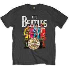 Los Beatles Sgt Pepper T-Shirt Gris (todos los tamaños) oficial Lonely Hearts Club Band