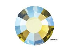1440 Preciosa Genuine Czech Crystals 16ss Olivine AB Viva Flatbacks, ss16 4mm