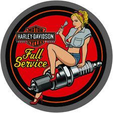 Spark Plug Babe Harley-Davidson Tin Sign Embossed Garage 371