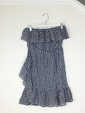 J. Crew Off-The-Shoulder Or Tie Neck Ruffled Dress In Gingham F1333 S