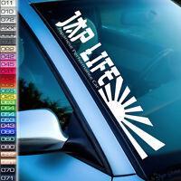 JDM Aufkleber Frontscheibenaufkleber Japan Sticker Lifestyle Japanflagge Car F70
