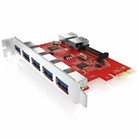 CSL PCIe USB 3.0 CARD Schnittstellenkarte Controller 5x extern (Ports) 2x intern