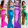 Kids Girl Mermaid Tail Swimmable Swimwear Bikini Suit Swimming Swimsuit Costume