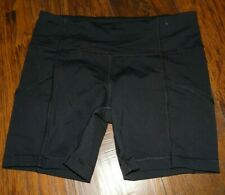 "Lululemon Athletica Running Shorts Tights 6"" Inseam Pockets Black Women's Size 8"