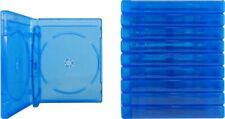 10 Empty 21mm Thick Quad Blue Replacement Boxes / Cases for Blu-ray DVD Movies