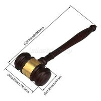 Wooden Judge Gavel 14cm for Lawyer Judge Auctioneer Executive in Court Auction