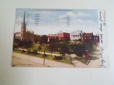 Vintage Postcard CITY HALL, LAFAYETTE SQUARE NEW ORLEANS LA Franked+Stamped 1907