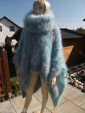 Sogno Mohair Fuzzy LONGHAIR Mohair Poncho SWEATER Cape extra Neck Unit Size