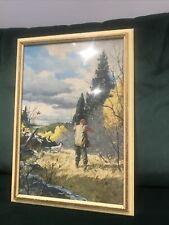 More details for vintage 1950s pointer english setter grouse shooting framed print