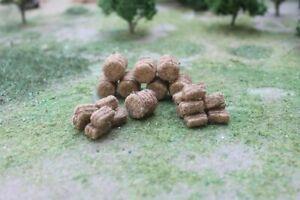 MP SCENERY 30 Brown Hay Bales N Gauge Model Farm Layout Railroad Layout Handmade