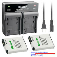 Kastar Battery Dual Rapid Charger for Nikon EN-EL12 & Nikon Coolpix S9400 Camera