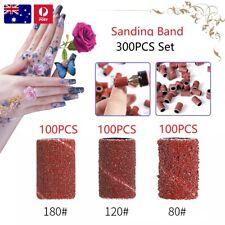 300 in 1 Sanding Band Ring Nail Drill Filing Bit Sandpaper Mandrel Manicure AU