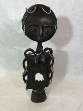 Ashanti Carved Wooden Doll, African Tribal, Fertility