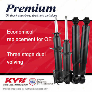 4 Front + Rear KYB Premium Strut Shock Absorbers for Daihatsu Mira L200S