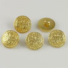 30 Pcs Round Gold Plastic Shank Buttons for Sewing DIY Craft Flatback Jewelry