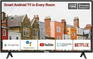 TCL 32ES568 32'' Smart Android TV HD, HDR, Micro Dimming, Netflix, YouTube ++