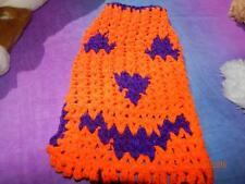 """JACK O'LANTERN"" HALLOWEEN Purple Pumpkin Dog Sweater Med"