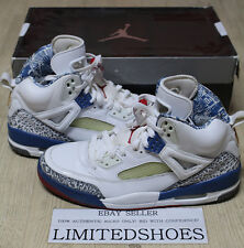 NIKE AIR JORDAN SPIZIKE WHITE VARSITY RED TRUE BLUE 315371-163 US 9 toro bravo 3