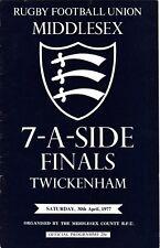 Middlesex Sevens finales 1977 @ Twickenham