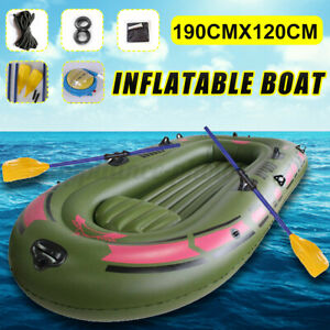 Double Triple Person inflatable Raft Kayak Rubber Boat+Oars+Air Pump Water Sport