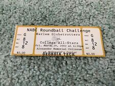 1992 Harlem Globetrotters v NABC College All Stars Full Basketball Ticket