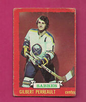1973-74 OPC # 70 SABRES GILBERT PERREAULT  GOOD CARD (INV#2544)