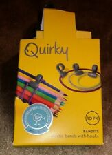 Quirky BND-1-CW1 Bandits All-Purpose Rubber Bands with Hooks (10-pack)
