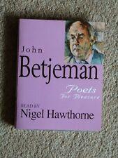 JOHN BETJEMAN - POETS FOR PLEASURE    - AUDIO BOOKS -       (2 CASSETTES )