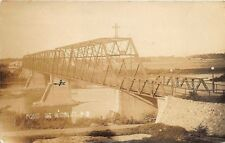 Pont De Nicolet Quebec Canada Iron Bridge Real Photo Postcard